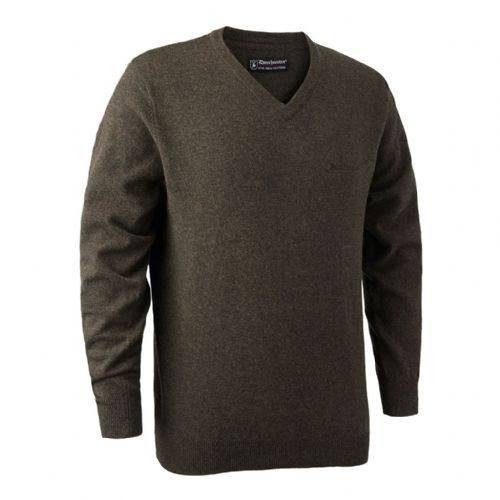 Deerhunter Brighton  V Neck Pullover: Dark Elm